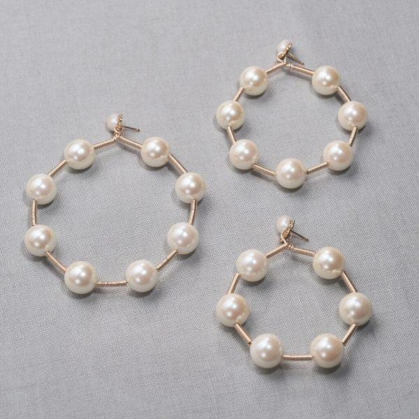 SS 20-01 SAREH pearl hoop earrings