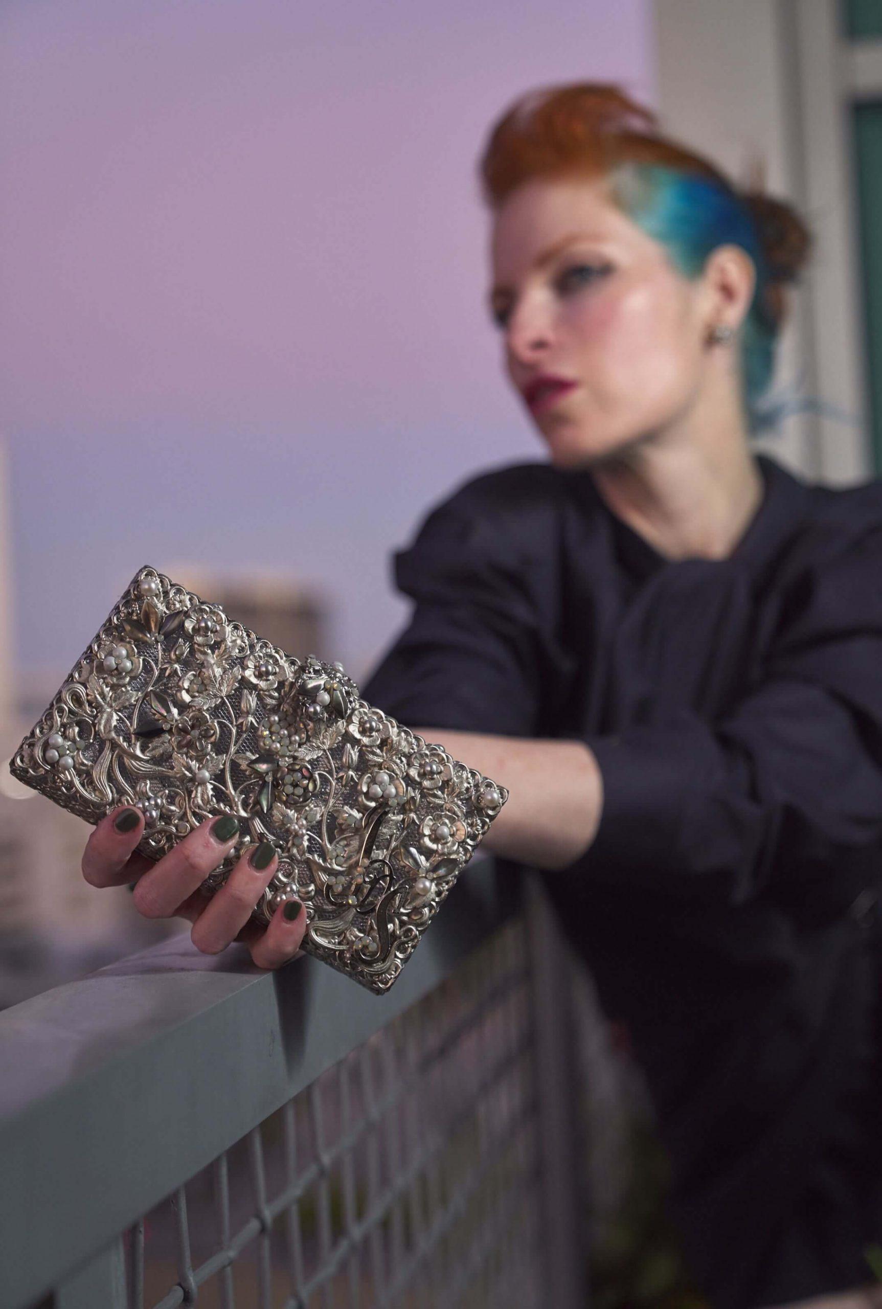 Carol Maria Elena Headpieces Holida Collection holiday purse2