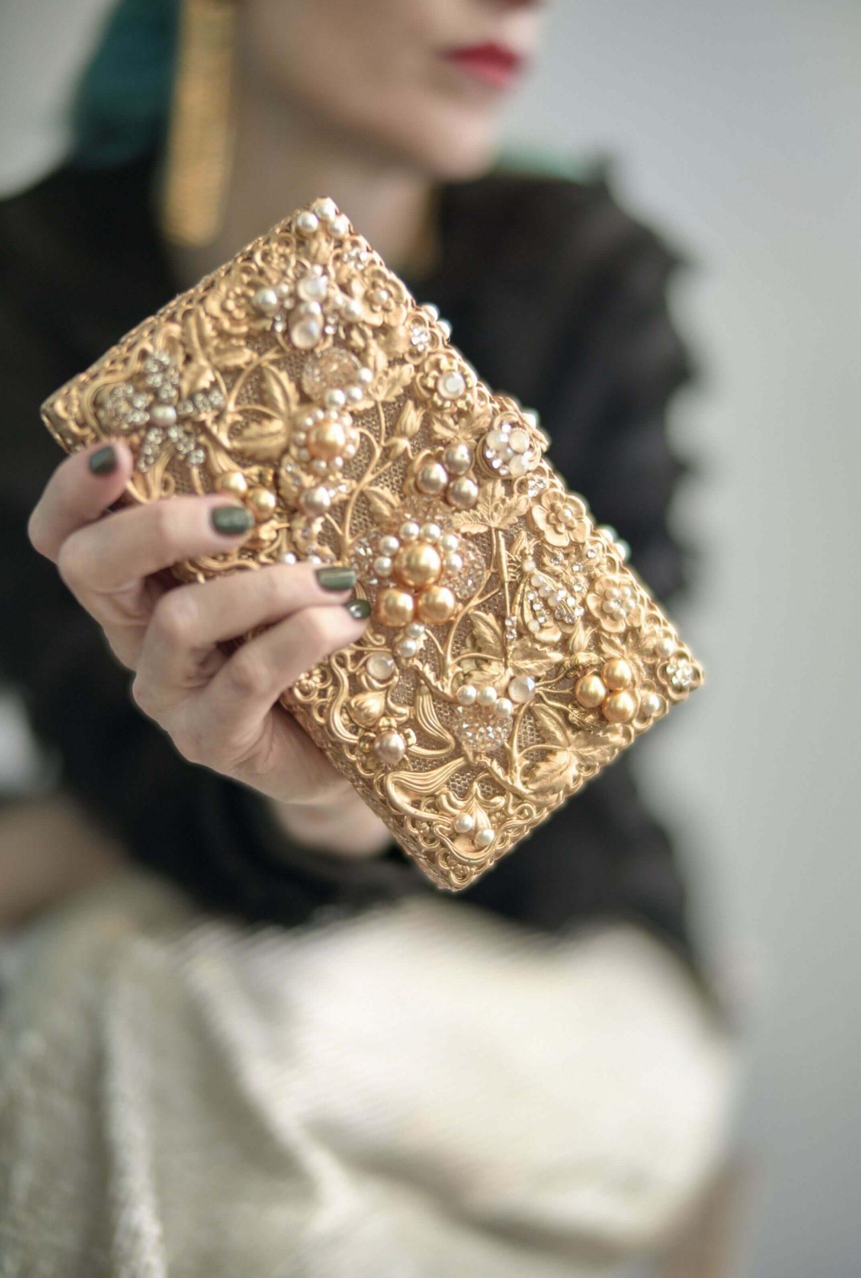 Holly Maria Elena Headpieces Holida Collection holiday purse