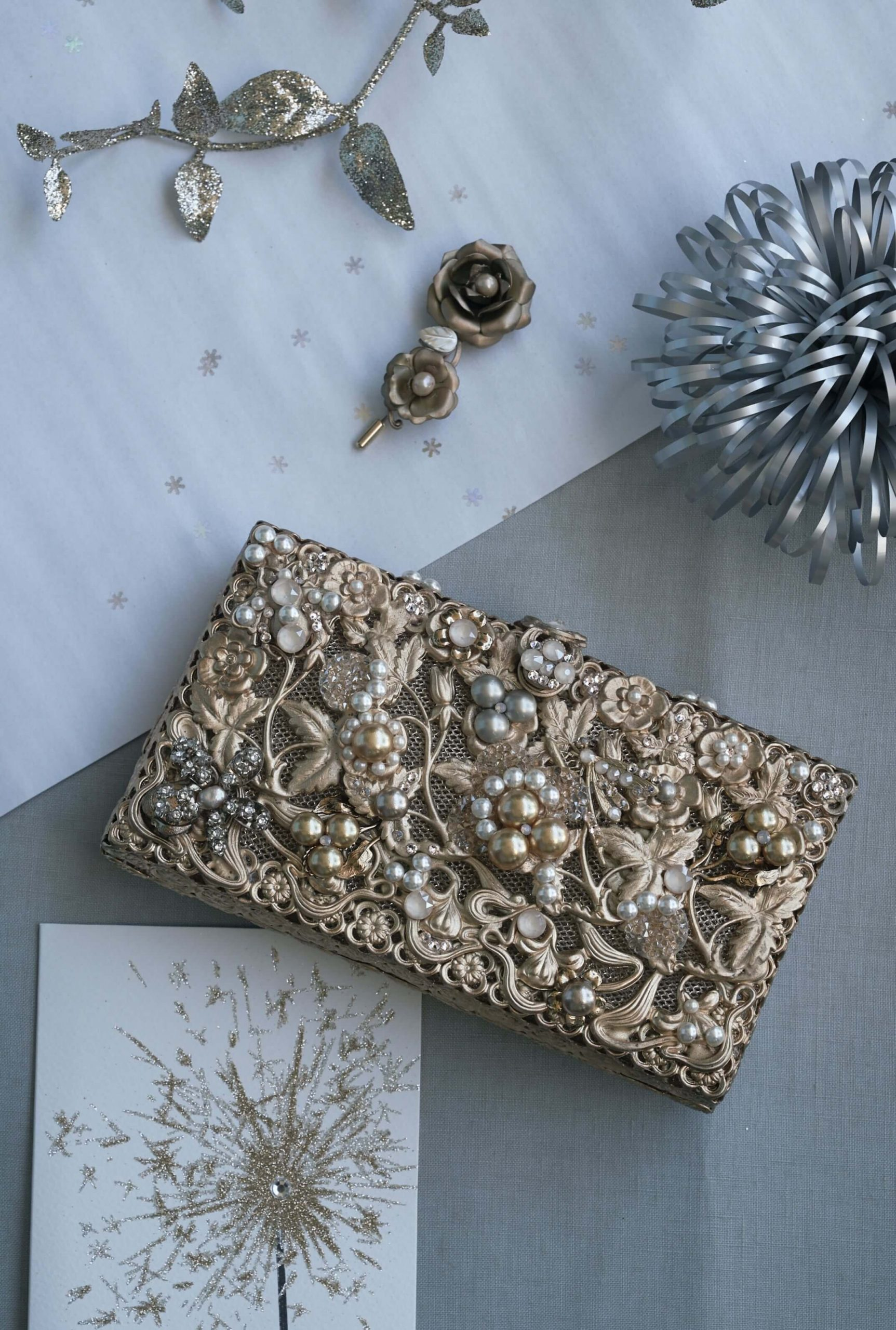 Holly maria elena headpieces holiday collection holiday purse
